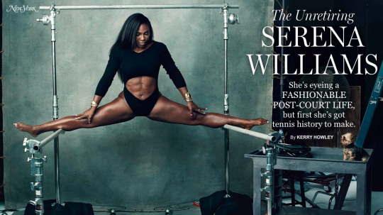 SERENA WILLIAMS ALETA MITINDO KATIKA TENNIS (NEW YORK FASHION MAGAZINE)