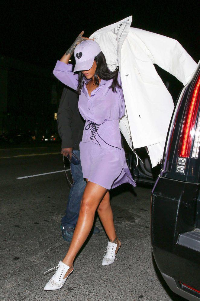 Rihanna-in-Purple-Dress-at-The-Nice-Guy--05-662x993