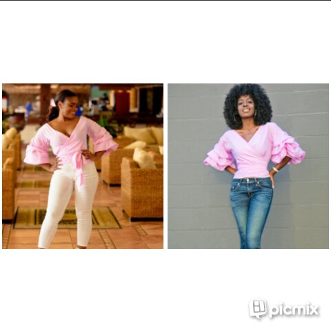 WHO ROCKED THE VIVIAN RUCHED TOP BEST KATI YA LAVIDOZ NA STYLE PANTRY