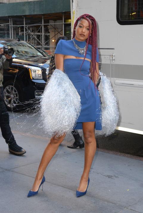 keke-palmer-ny-style-cutout-blue-dress