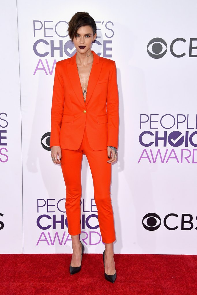RUBY ROSE IS OUR FAVORABLY BEAUTY CELEB ON THE PCA's 2017