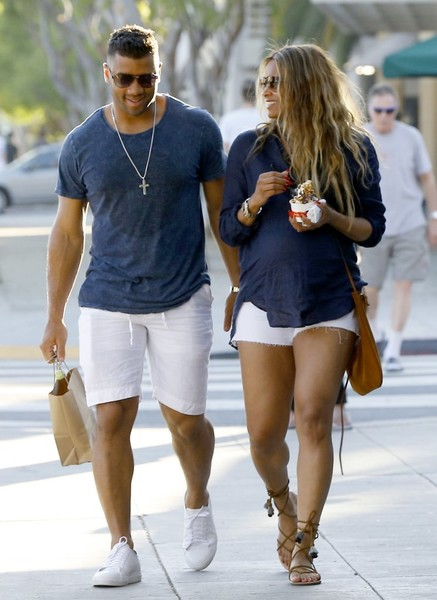Russell Wilson & Ciara Matching Date Outfits
