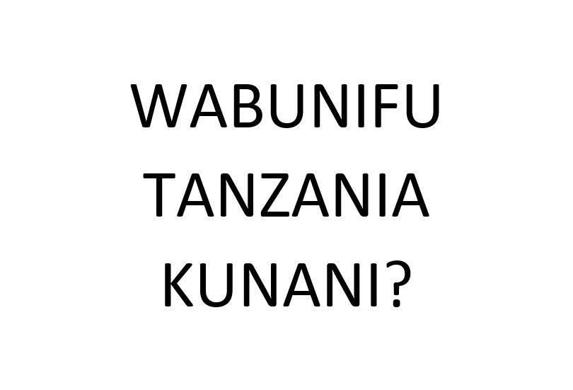 WABUNIFU TANZANIA UBUNIFU UMEKWISHA