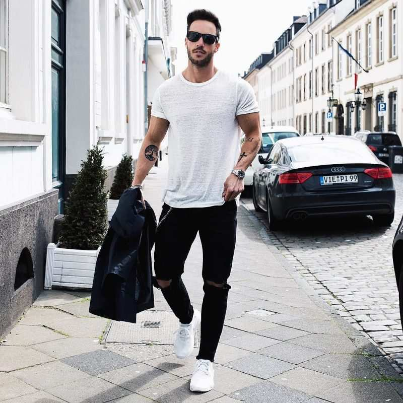 Weekend Outfit Ideas – Black skinny Jeans For Men