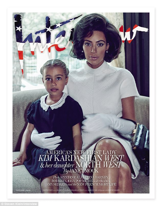 Kim Kardashian Posing As First Lady In Interview Magazine Cover