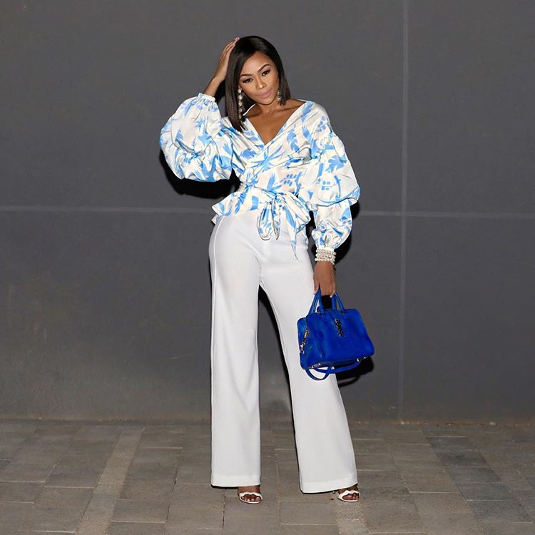 Who Rocked This Statement Blouse Better Lavidoz Or Bonang M