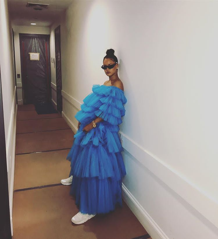 Fashion Fix : How To Wear Sneakers With Ball Dress Just Like Rihanna And Kelly Rowland