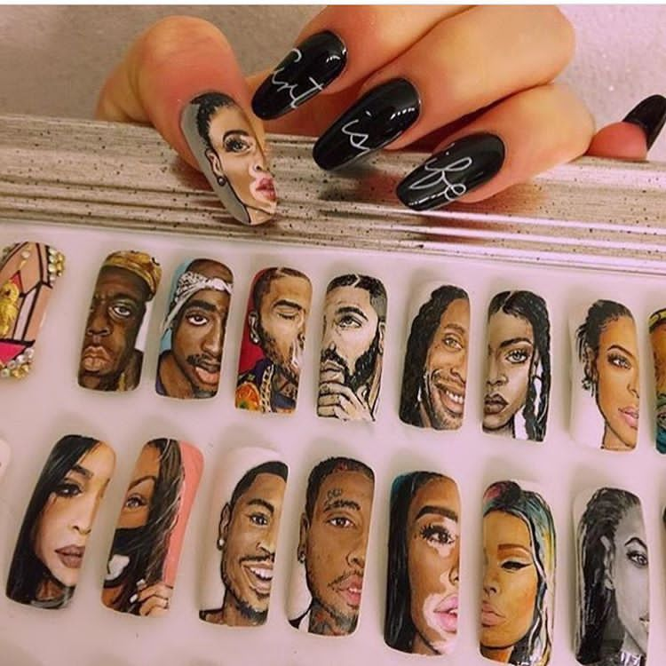 Portrait Nails Are Happening And Cardi B Did It First