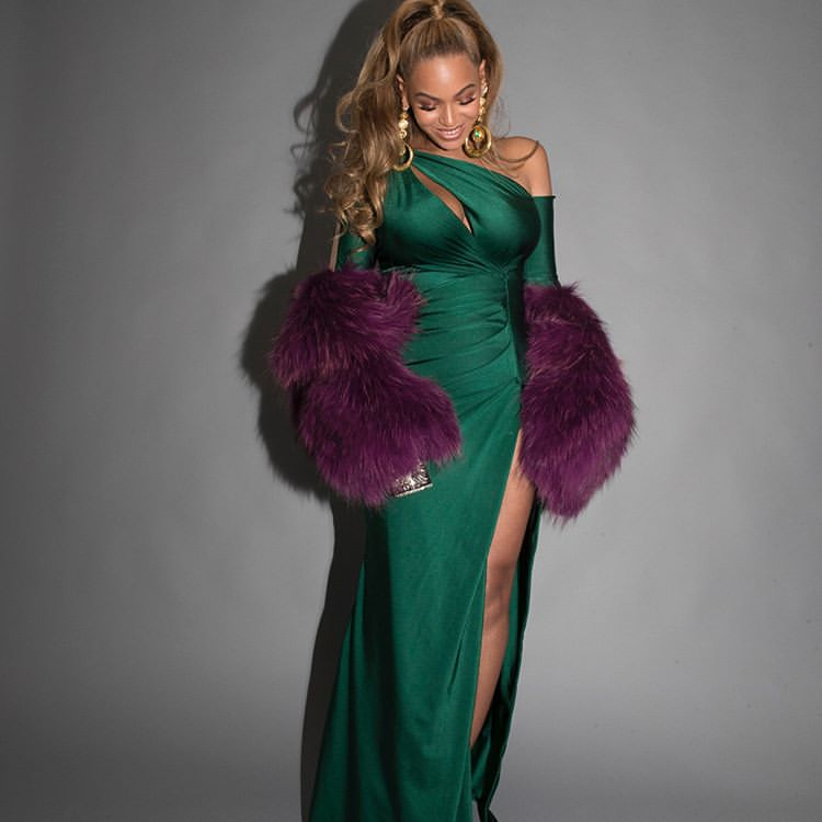 Beyonce Made Purple And Green Look Good Together