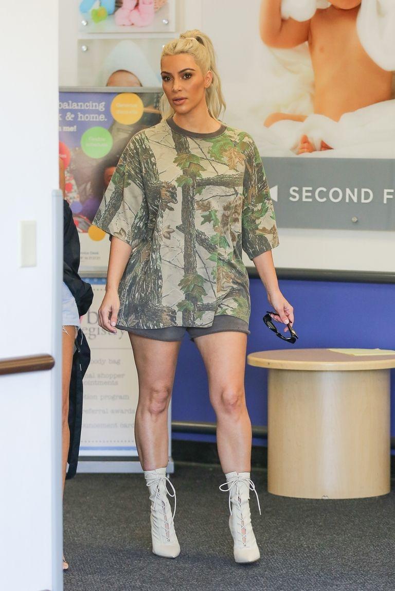 Kim Kardashian Wore Casual Outfit While Baby Shopping