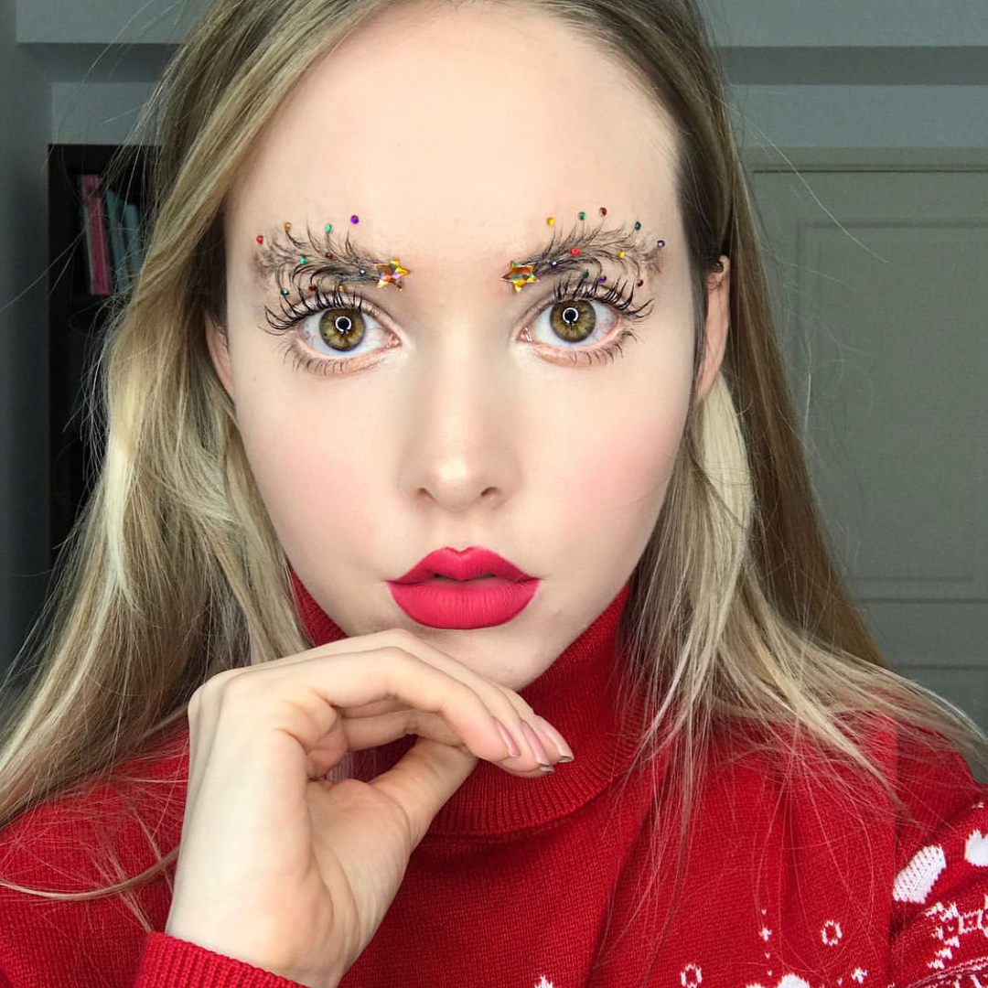 Christmas Tree Eyebrows Are Trending Just In Time For Christmas