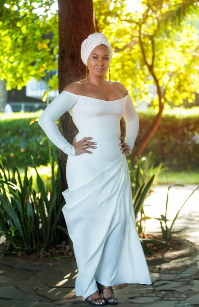Abby Plaatjes Is Serving Us Wedding Guest Goals In Kyamirwa Dress