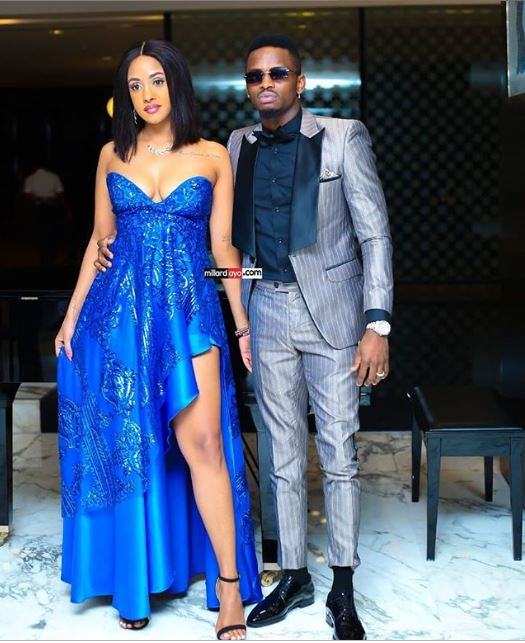 Diamond Platnumz & Tanasha Donna First Red Carpet Appearance