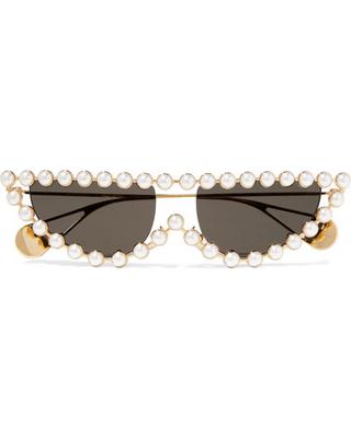 Celebs Love The Eye Cat Pearl Embellished Sunglasses