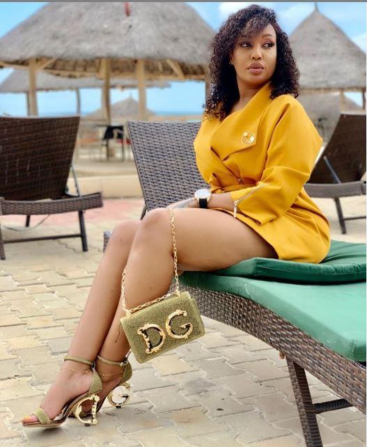 Irene Uwoya Dropped Tsh 7,787,169/ For These Dolce & Gabbana Heels  And Shoulder Bag