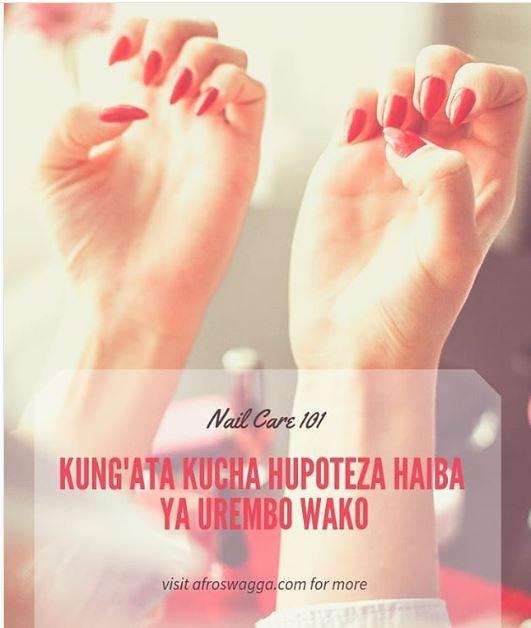 Kung'ata Kucha Hupoteza Haiba Ya Urembo Wako