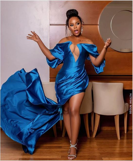 Our Two Cents On Elizabeth Michael's Dress At AMVCA 2020