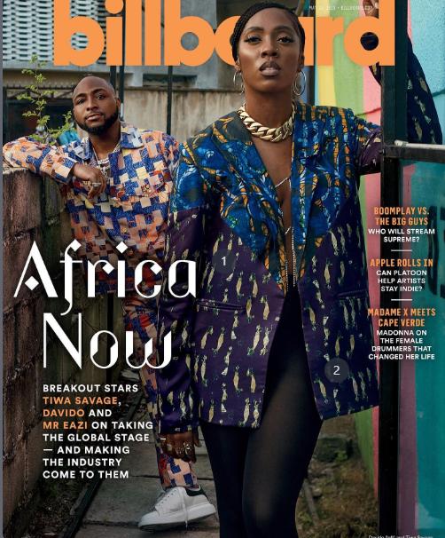 Tiwa Savage, Davido And Mr Eazi On Billboard Magazine Cover