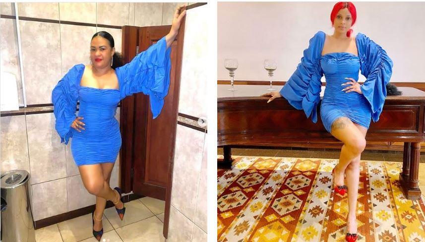 Lulu Diva Vs Director Joan In Blue Body-corn Dress