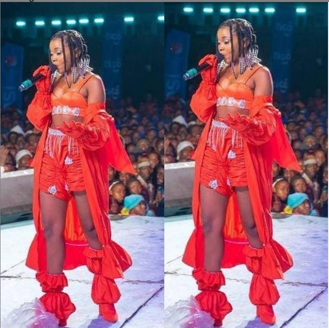 Reviewing Zuchu's Outfit At Tumewasha Na Tigo 2020 Concert