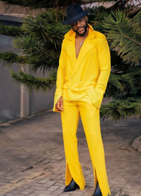 2 Times Ebuka Wore Front Slit Trousers