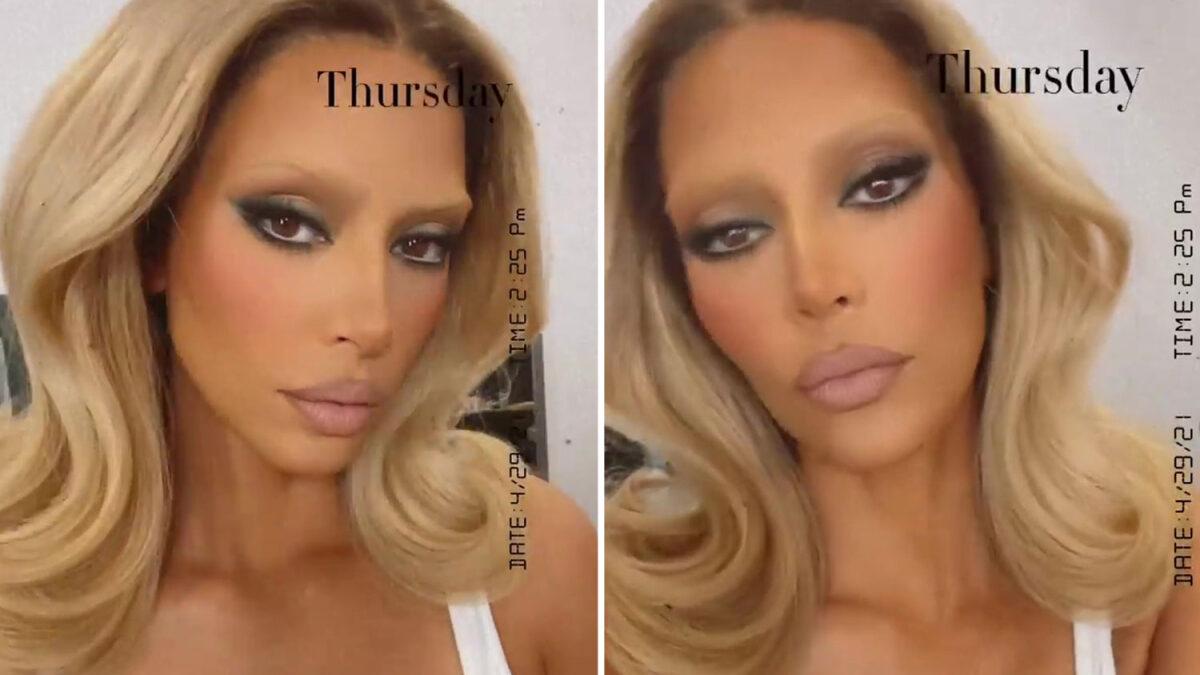 Kim Kardashian Blonde Eye Brows